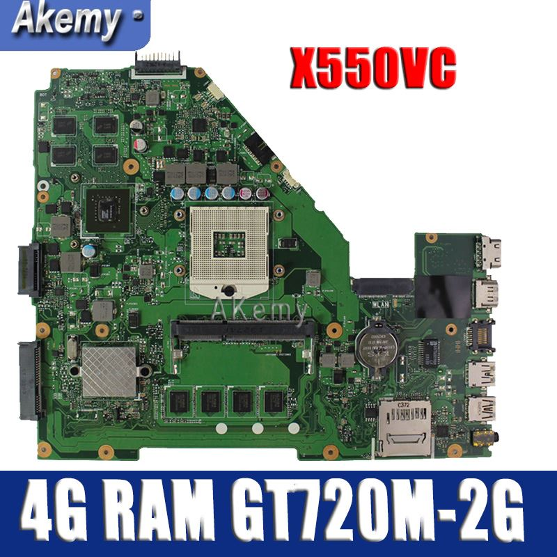 Amazoon  X550VC Laptop Motherboard For ASUS X550VC R510V X550V X550 Test Original Mainboard 4G RAM GT720M-2G