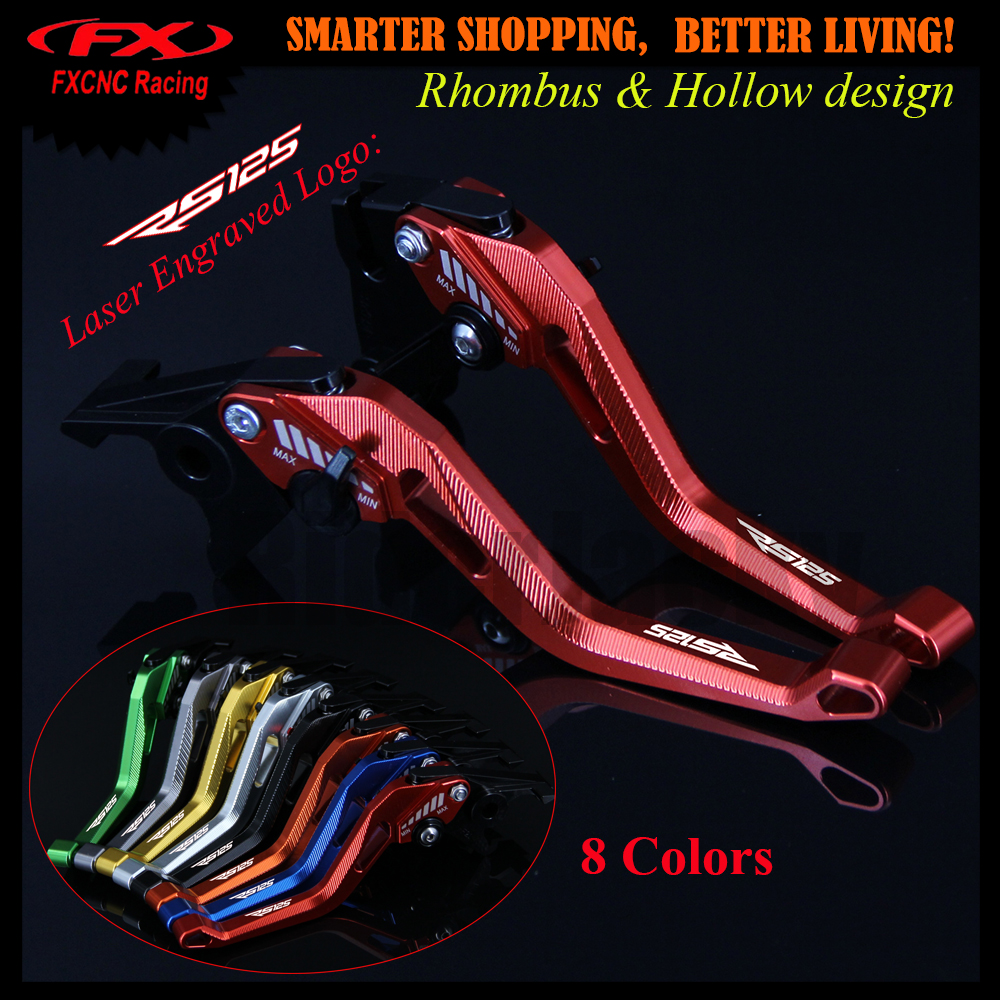 3D design Rhombus Hollow Red CNC Adjustable Motorcycle Brake Clutch Lever For Aprilia RS125 RS 125