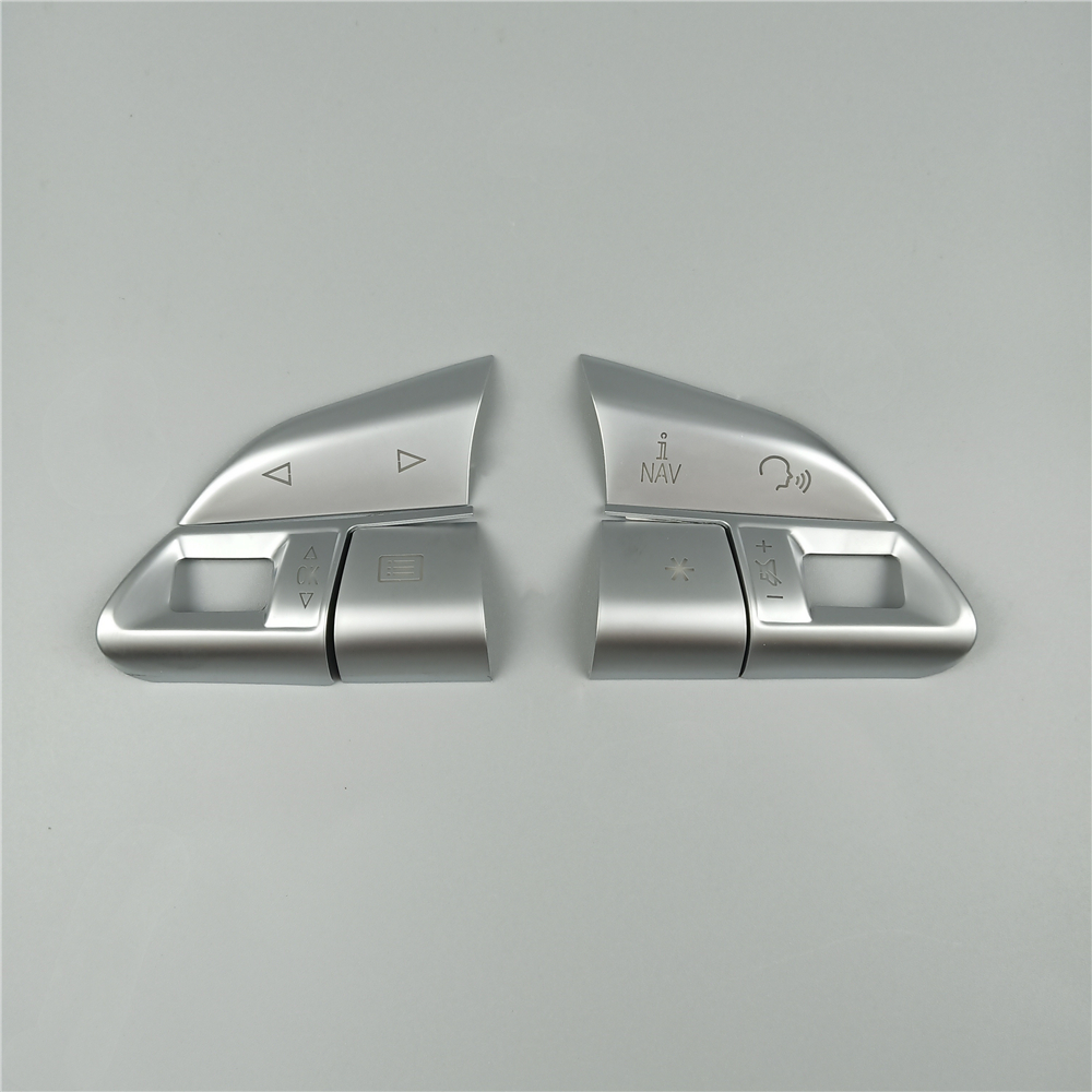 Chrome ABS Steering Wheel Buttons Sequins Decoration Cover Trim For Audi A3 8V A4 B8 B9 Q3 Q5 A1 A5 A6 A7 Car Accessories 4