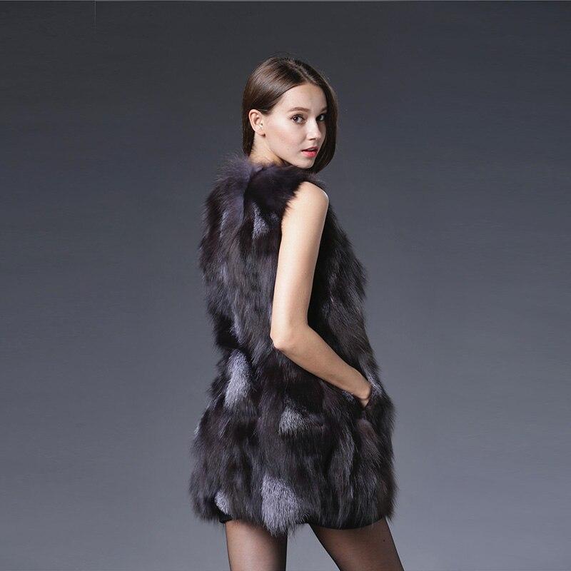 01 Gilets Femmes Ruban Manteau Renard Véritable Veste 2017 De Survêtement Gilet Réel Naturel Printemps Fourrure Mode Luxueux qFw4wBfa