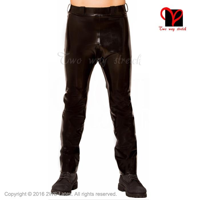 Latex Jeans Rubber pants Military Footless trousers Black Gummi bottoms plus size leggings rubber jeans XXXL