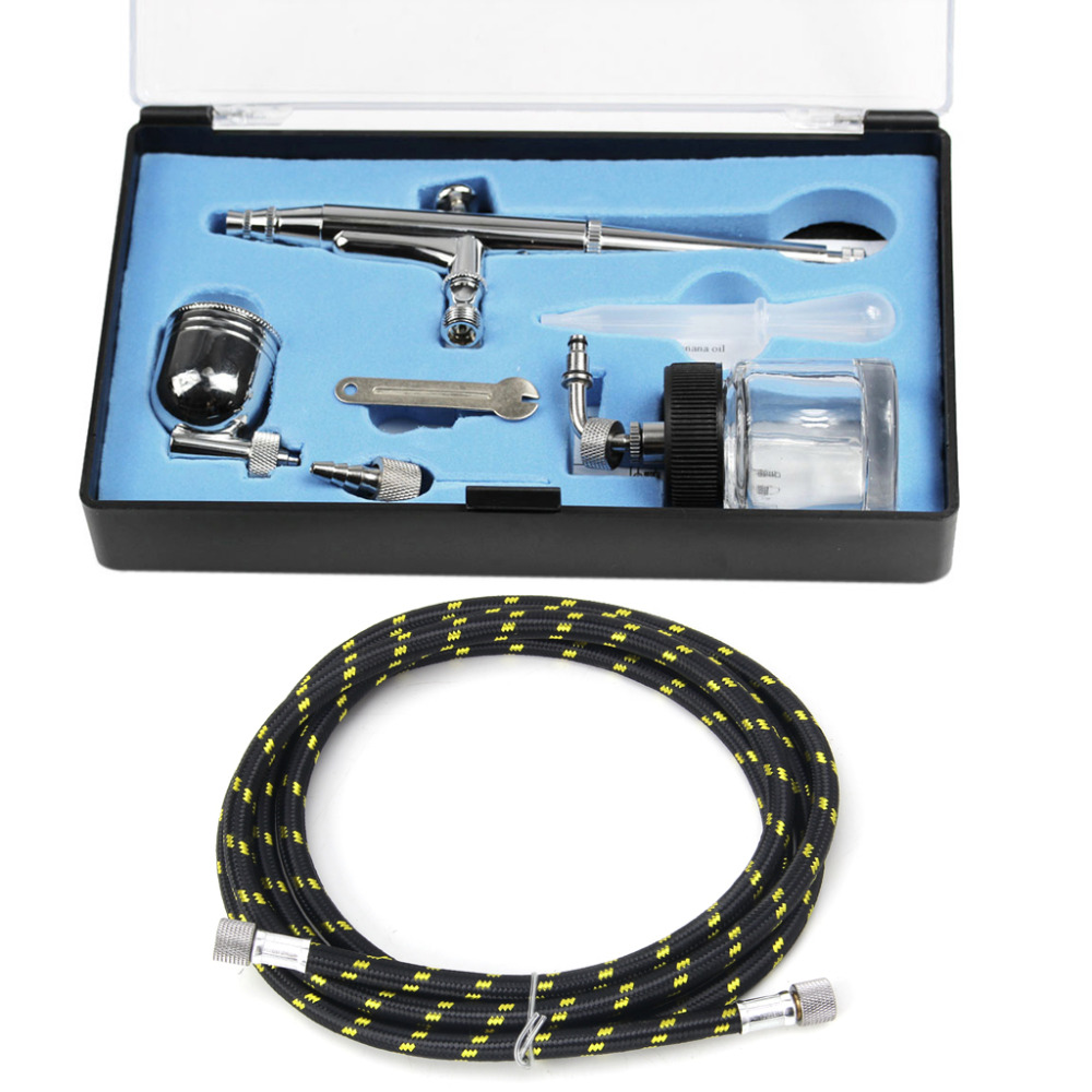 AirBrush Spray Gun Kit Set WD134 Dual Action 1.8M Air Hose WD21 0.3mm #H028# 125ft 7 modes expandable garden water hose pipe with spray gun