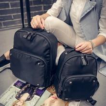 6f347e403b08 Solid Black Backpack Women Cute School Backpacks for Teenage Girls Fashion Campus  Laptop Bag Rucksack Bagpack