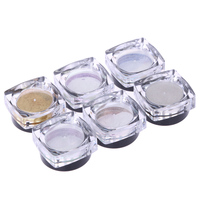 Mixed 6 Colors Mirror Chrome Effect Nail Dust Glitter Shimmer Nail Art Powder For Makeup Comestic