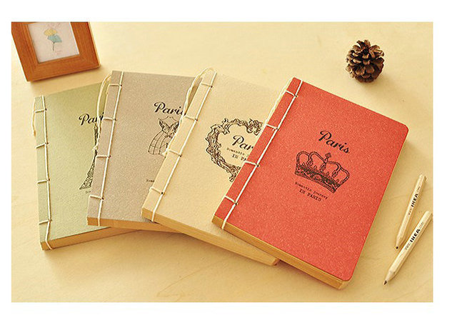 Diary Book Cover Design : D new korea vintage creative paris memory design