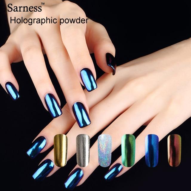 Sarness Lucky Shinning Nail Art Mirror Powder Chrome Pigment ...