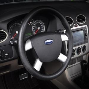 Image 5 - חדש באיכות גבוהה 4 Pcs רכב אוטומטי הגה כיסוי נירוסטה עבור פורד פוקוס 2 MK2 2005 2013 אביזרי פנים qiang