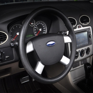 Image 5 - New High Quality 4 Pcs Auto Car Steering Wheel Cover Stainless Steel For Ford Focus 2 MK2 2005 2013 Interior Accessories qiang
