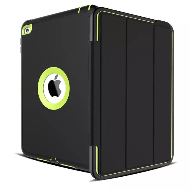 For Apple iPad mini 4 Case Cover Retina Kids Safe Armor Shockproof Heavy Duty Silicone Hard Case 3 PCS Free Gifts (6)