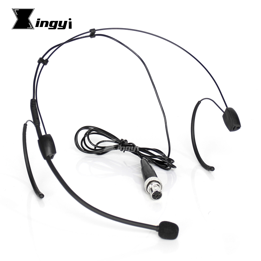 Microphones Mini Xlr 4 Pin 4pin Ta4f Screw Locking Earset Headset Microphone Headworn Mic For Mipro Uhf Wireless System Bodypack Transmitter
