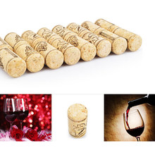 10PCS/ Lot Straight Wood Corks Wine Bottle Stopper Corks Wine Stoppers Bottle Plug Bar Tools Wine Cork Wooden Sealing Caps(China)