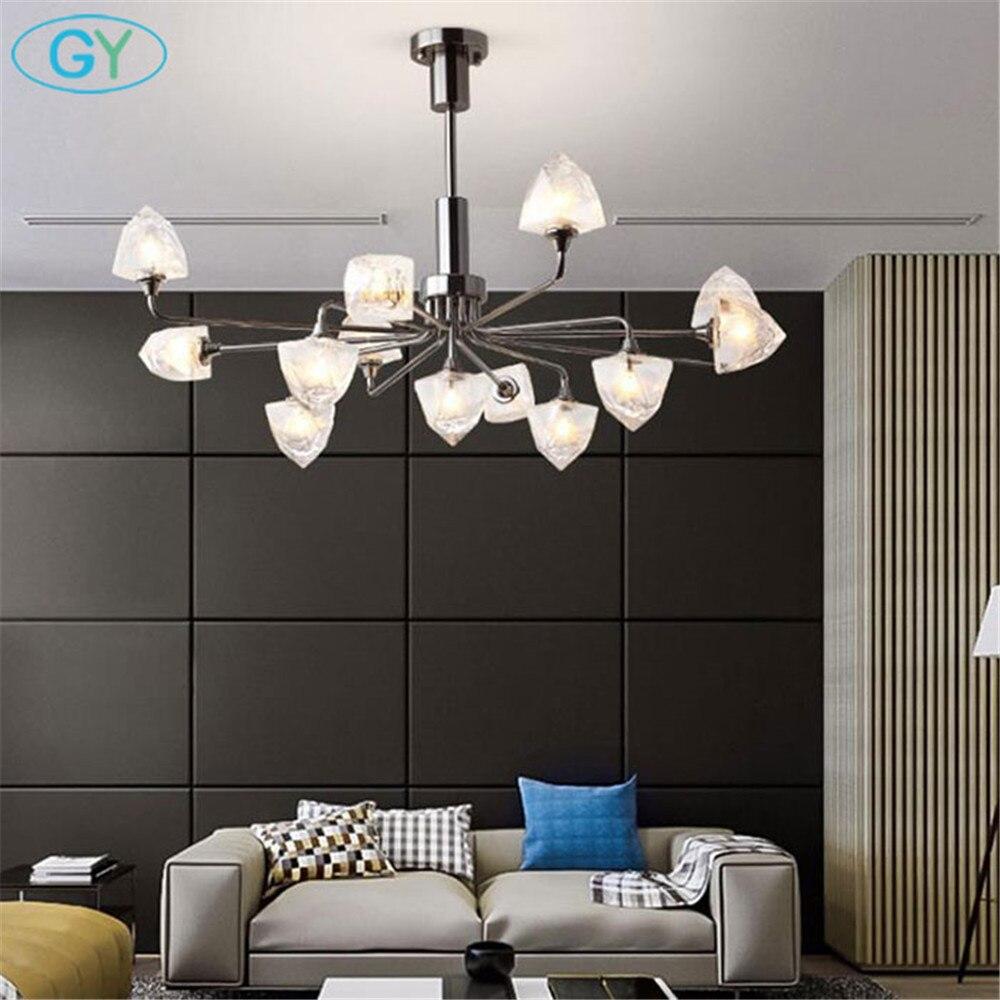 G4 LED ampoule incluse design moderne chrome LED lustres 5 7 9 11 13 clair nuances lumières Art décor suspension lampe pour salon