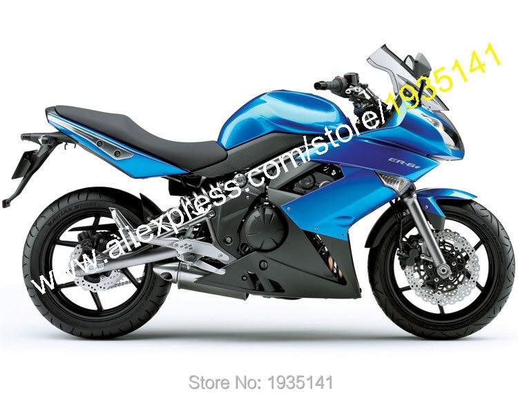 Hot Sales,ER-6F 09 10 11 Road Fairing For Kawasaki ER6F Ninja 650R ER 6F 2009 2010 2011 Blue Black Bodyworks Motorcycle Fairing
