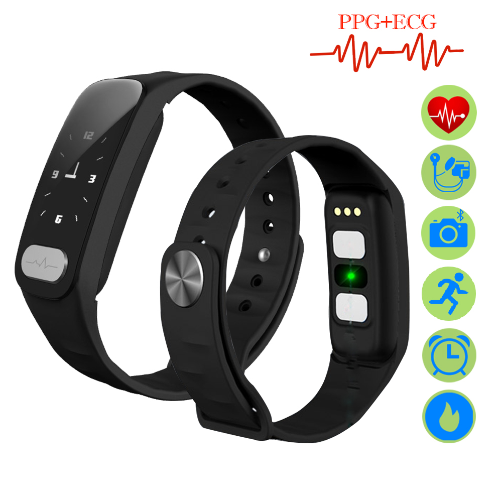 ZUCOOR Band Smart Bracelet Electronics Fitness ECG PPG Smartband RB66 Touchscreen Blood Pressure Pulseira Masculina Pedometer