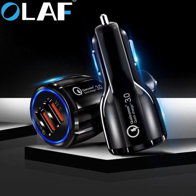אולף רכב USB מטען תשלום מהיר 3.0 2.0 נייד טלפון מטען 2 יציאת USB מהיר מטען לרכב עבור iPhone סמסונג לוח רכב-מטען