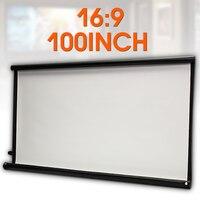 100 дюймов проектор HD экран холст 16:9 передний домашний кинотеатр проекционный экран Кино проектор экран высокая яркость складной