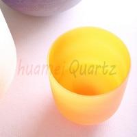 Color Chakra Tuned Set Of 7pcs 8 12 Frosted Quartz Crystal Singing Bowl