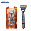 Genuína gillette fusion power navalha de barbear lâminas de barbear para homens marcas navalhas barbeadores elétricos 1 titular com 1 lâminas