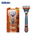 Genuino gillette fusion power shaving razor blades for men marcas afeitadoras eléctricas 1 titular con 1 cuchillas cuchillas de afeitar