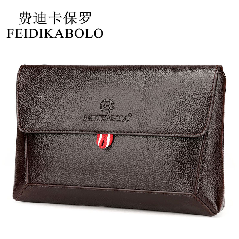 FEIDIKABOLO Hot Sale Men Wallets Men's Coin Zipper Pocket Long Leather Wallet Clutch Bags Male Purse Hand Bag For Man Carteiras feidikabolo brand zipper men wallets with phone bag pu leather clutch wallet large capacity casual long business men s wallets