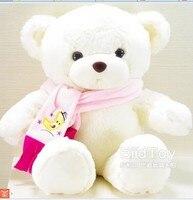 80 cm white teddy bear plush toy scarf bear doll gift w4161