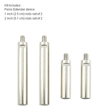 free shipping 1 set rods Penis Extender Stretcher Rods , pro extender Enlarger Enlargment proextender Replacement Accessory