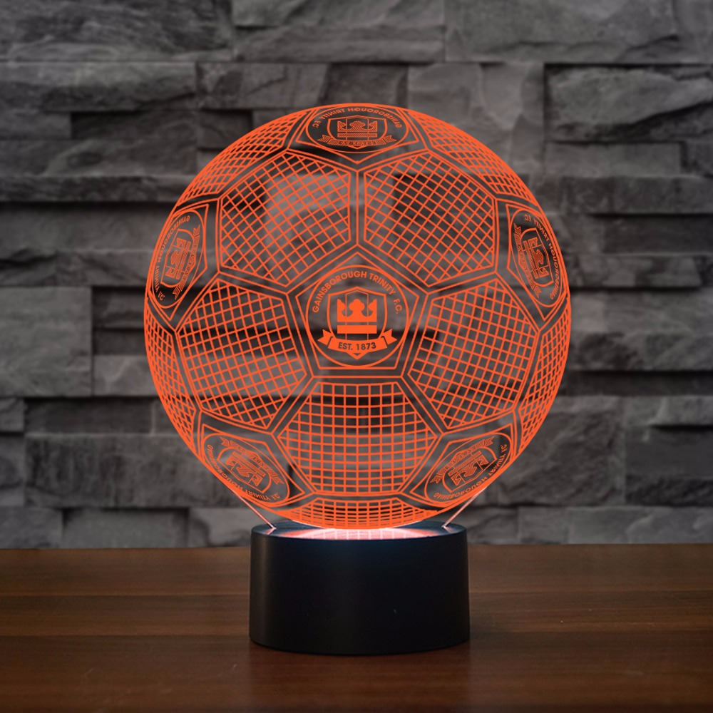 3D Led Football Modelling Night Light USB Child Mood Touch Button Table Lamp Baby Bedroom Soccer Lighting Luminaria Home Decor