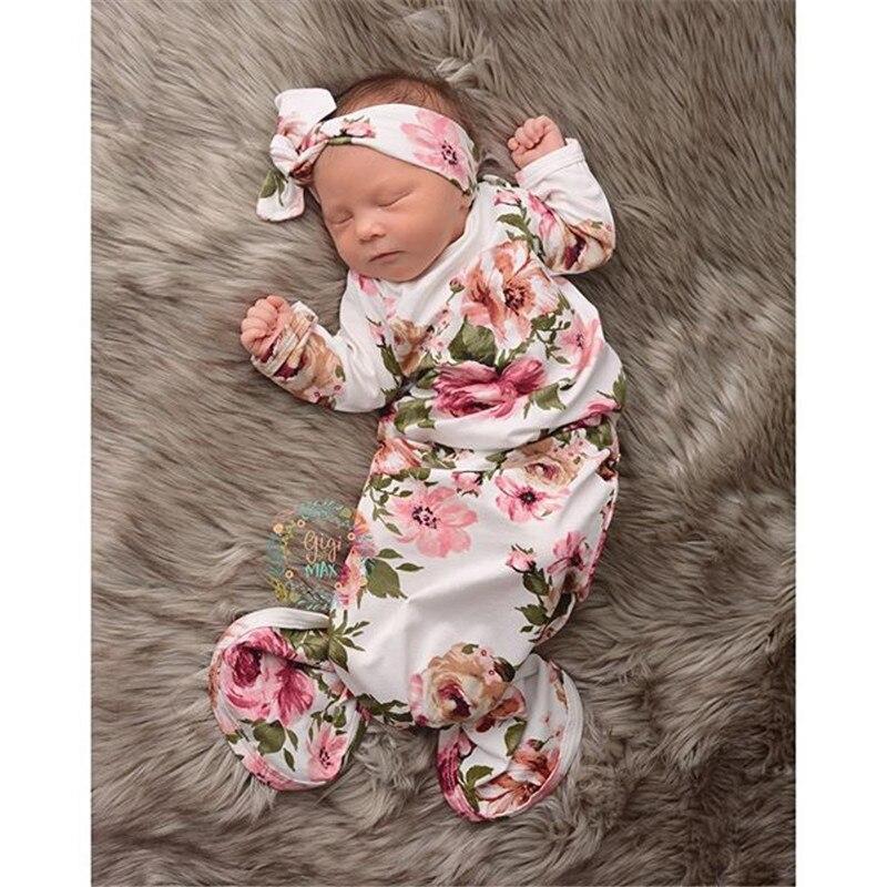 Neonato Infantile Cute Sirena Floreale Del Bambino Della Ragazza Di Sonno Sacco Wrap Swaddle Coperta Di Sacco A Pelo Del Bambino