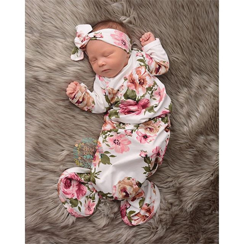 Newborn Baby Boy Girl Clothes Flare Sleeves Christmas Swaddle Mermaid Gown Wrap Blanket Sleeping Bag Outfits