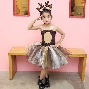 Image 5 - בנות צבי טוטו שמלה עם סרט ליל כל הקדושים תלבושות לילדים בנות מסיבת יום הולדת שמלת ילדי קוספליי בעלי החיים תלבושות 1 14Y