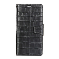 Real Leather Case For Sony Xperia XZ Premium Cell Phone Natural Genuine Crocodile Leather Card Phone