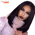 Brazilian Human Hair Bob Wigs 200% Density Straight Lace Front Human Hair Wigs Rosa Queen Hair Products Short Bod Front Lace Wig