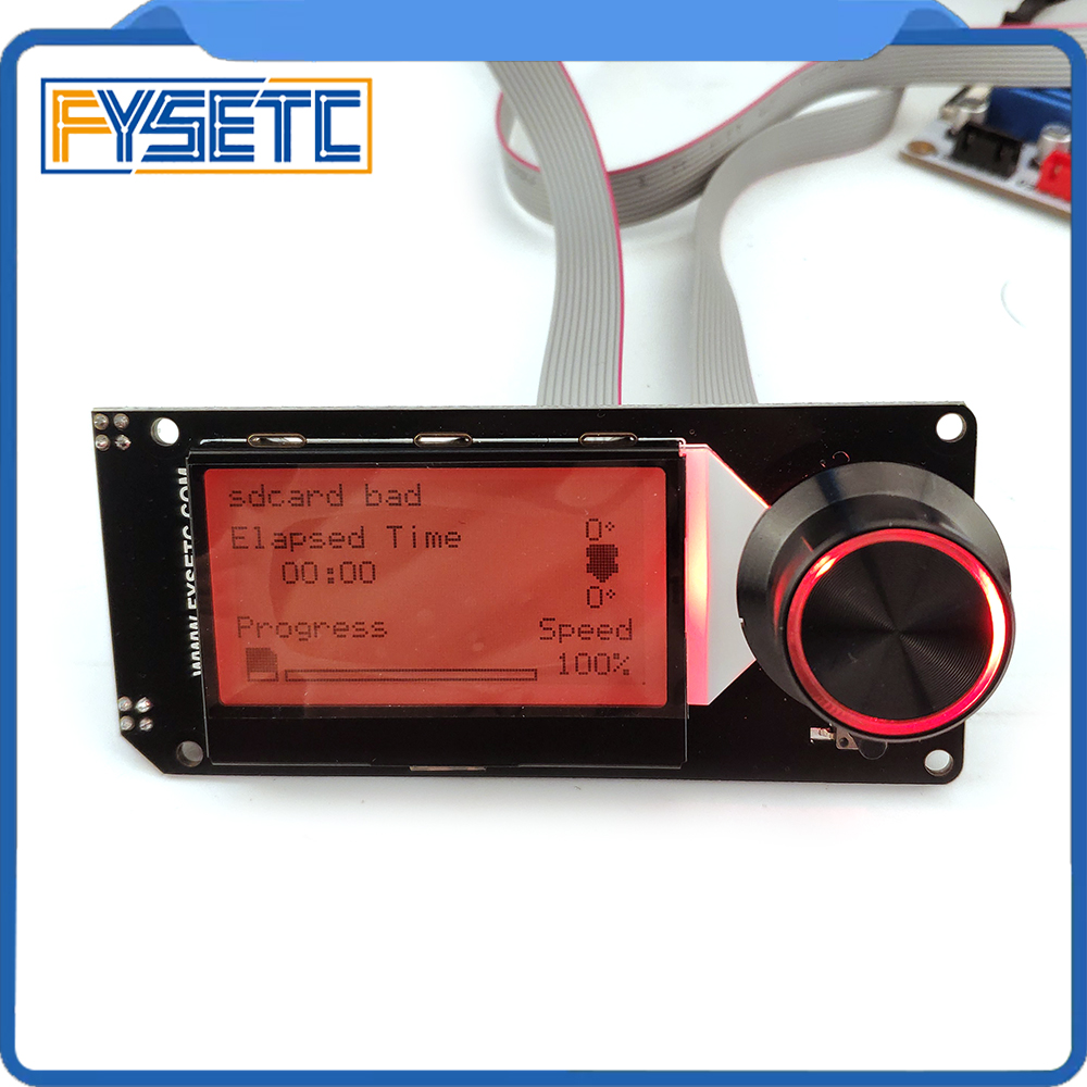 Type A MINI12864 LCD Screen mini 12864 v2 1 Display RGB backlight Black Support Marlin DIY For SKR With SD Card 3D Printer Parts
