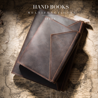 Travelers Notebook 100% Genuine Leather Exercise Book Design Pocket Journal Diary Gift for Men & Women A5 A6 Refillable Planner