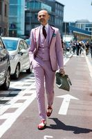 2017 Son Pantolon Ceket Tasarımları Sıcak Pembe Smokin Resmi Mens Sıska Balo Trim Blazer Masculino Suits Moda Özel 3 Parça ceket