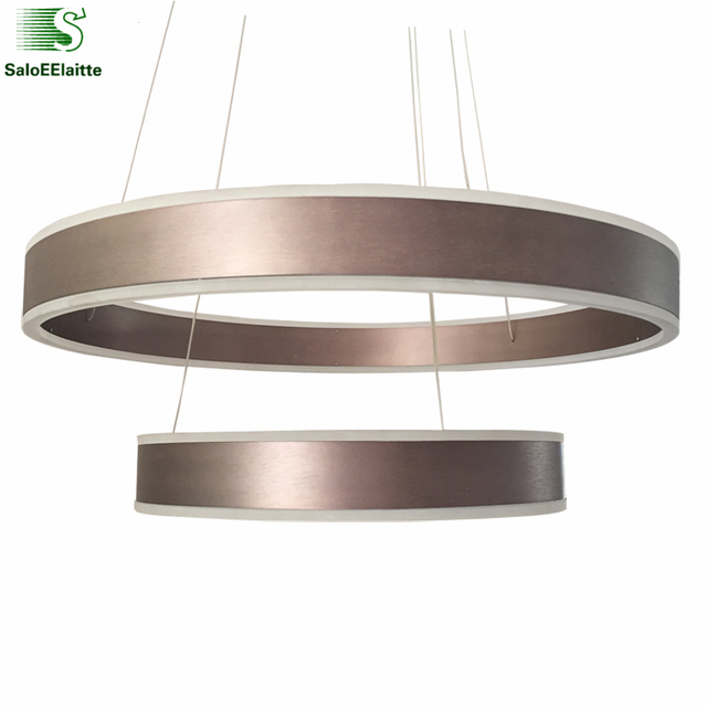 dimmable light fixture modern circle dimmable led pendant lights acrylic ring living room lamp bedroom light