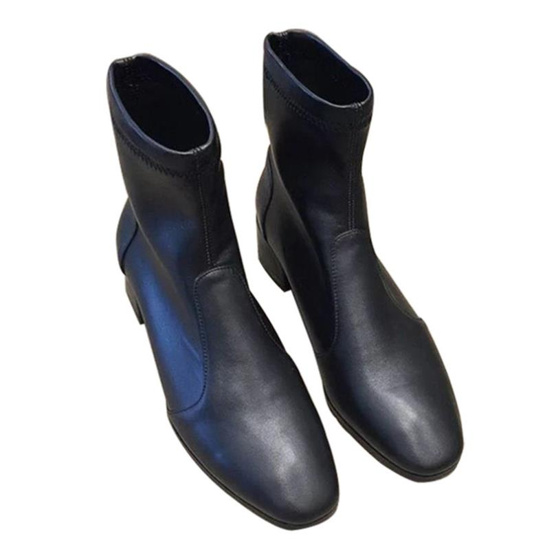 Winters new fad, velvet, warm leather, square head, stretch, skinny Martin bootsWinters new fad, velvet, warm leather, square head, stretch, skinny Martin boots