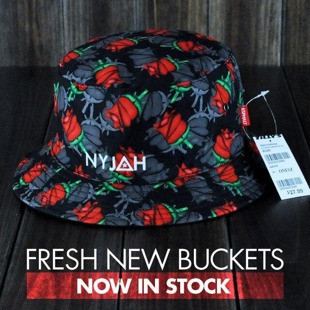 77c96ccb377 Skateboard Asphalt yacht club roses Nyjah huston bucket hat free shipping