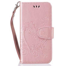 Love Flower Book Cover Leather For Capa Samsung J120 A310 A320 A510 A520 A720 S5Mini S6 S7 S8Plus J1 J5 J3 Prime Phone Bags D23Z(China)