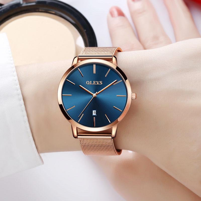Origineel Horloge Dames Goud Eenvoudig Roestvrij Staal Ultra Dun - Dameshorloges - Foto 4