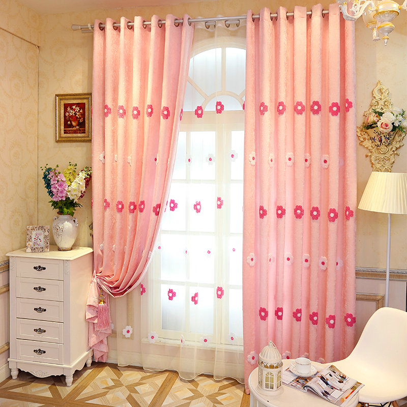 High quality shade bedroom curtains complete with chenille fabric in ...