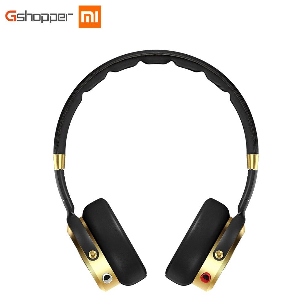 Xiaomi originais Fone De Ouvido Com Fio Controle Hifi Headband Fones De Ouvido Oi-Resolução de Áudio Embutido MEMS Microfone Preto + Champagne Ouro