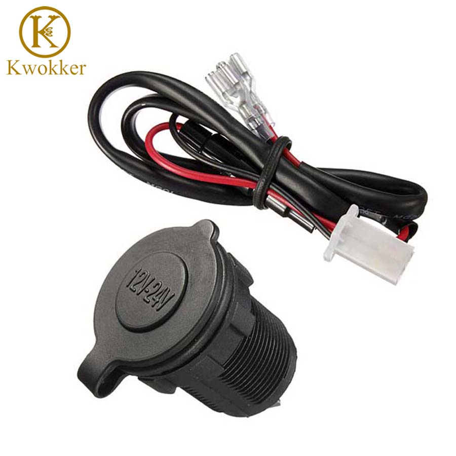 Waterproof 12v 24v Car Accessory Power Socket Motorcycle Wiring Cigarette Lighter On Plug With 60cm Cord In From Automobiles Motorcycles