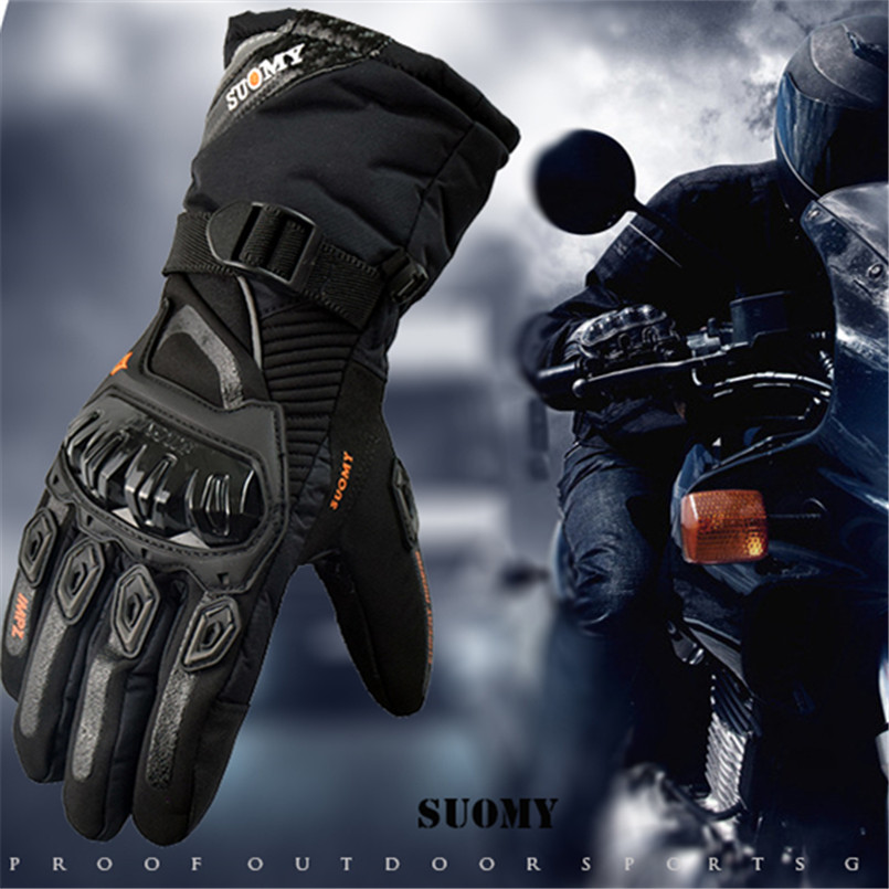 Suomy 2018 Winter warm motorcycle gloves 100% Waterproof windproof Guantes Moto Luvas Touch Screen luva motociclista luvas moto