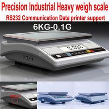 Точные цифровые лабораторные 6 кг x 0,1 г APTW419WA 6 кг-0,1g RS232 данных принт промышленные весы измерительные кухонные весы