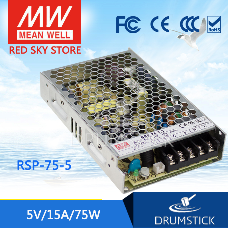 Advantages MEAN WELL RSP-75-5 5V 15A meanwell RSP-75 75W Single Output with PFC Function Power Supply selling hot mean well rsp 1500 5 5v 240a meanwell rsp 1500 5v 1200w single output power supply
