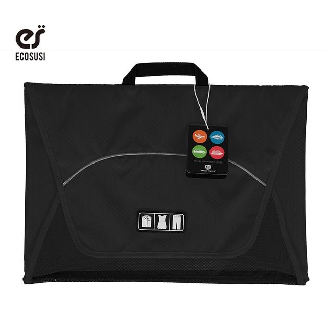 "ecosusi 17"" Shirt Necktie Packing Organizer Bags For T Shirts Folder Anti-wrinkle Garment Storage Bag Travel Luggage suitcase"