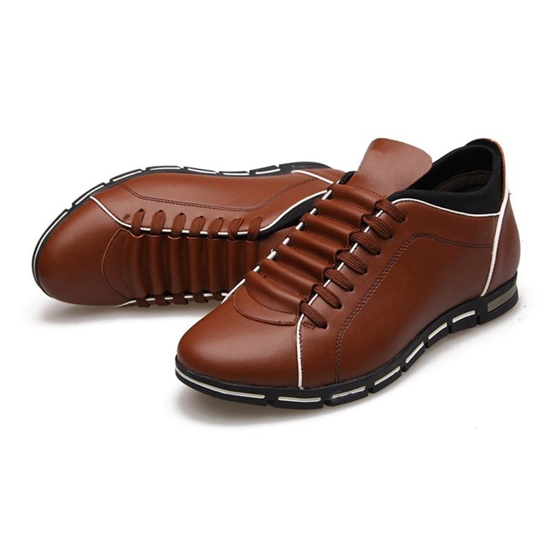 Hommes 602black Nouveau Cuir Chaussures Pu Casual La Taille Plus En Automne Appartements Mode 602red Mâle Laçage Hiver 602brown twU4fHaqgx
