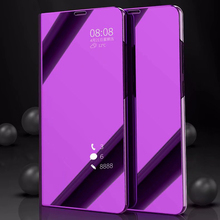 Mi6 Smart Flip Stand Mirror Case For Xiaomi mi 6 Clear View PU Leather Cover XIAOMI