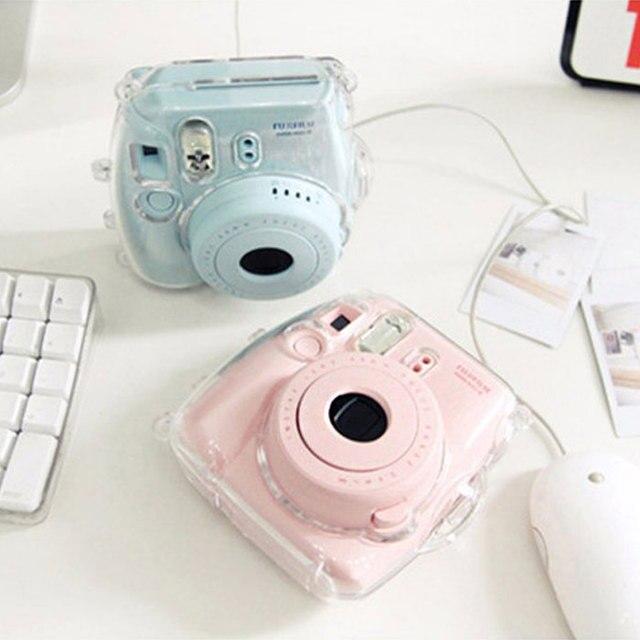 Gizcam Clear Transparent Plastic Camera Case Cover Housing for Fujifilm Instax Mini 8 Protect Bag New Design